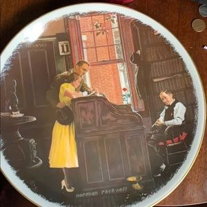 """Norman Rockwell """"The Marriage License"""" Plate"""